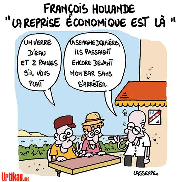 A RIRE OU EN PLEURER OU REVUE DE PRESSE SATIRIQUE - Page 13 140717-francois-hollande-reprise-lasserpe