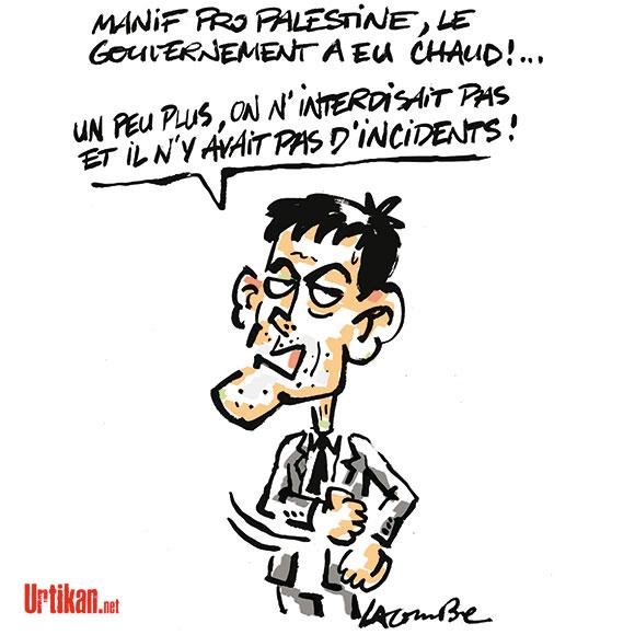 A RIRE OU EN PLEURER OU REVUE DE PRESSE SATIRIQUE - Page 13 140722-valls-lacombe