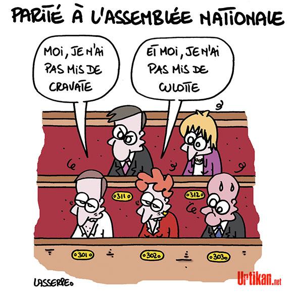 Le dessin du jour (humour en images) - Page 7 170705-parite-assemblee-nationale-lasserpe