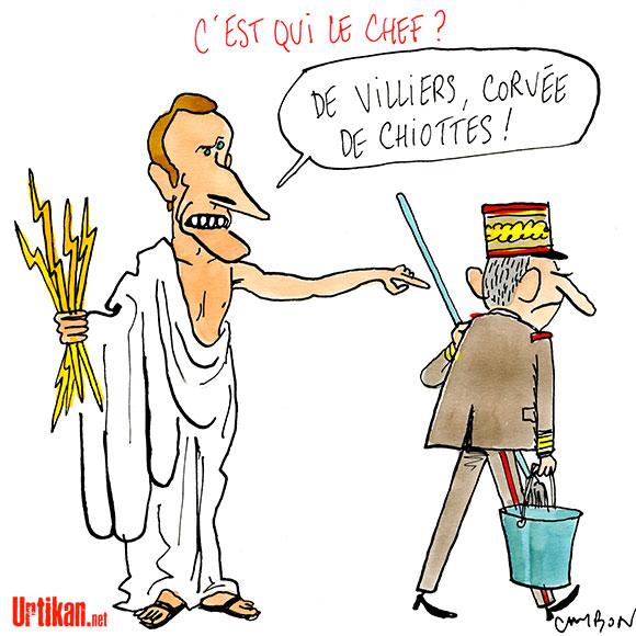 Le dessin du jour (humour en images) - Page 7 170721-macron-De-Villiers-Cambon
