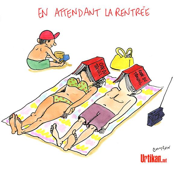 Le dessin du jour (humour en images) - Page 7 170811-en-attendant-la-rentree-cambon