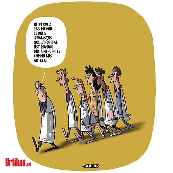 Le dessin du jour (humour en images) - Page 16 180523-Hopital-greves-chereau
