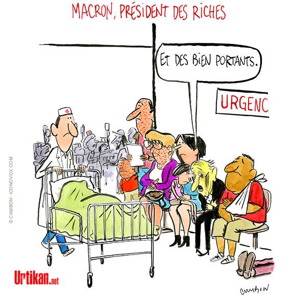 Le dessin du jour (humour en images) - Page 16 180523-macron-president-des-riches-hopital-sante-cambon