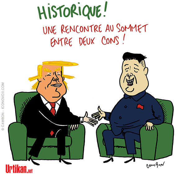 Le dessin du jour (humour en images) - Page 16 180611-trump-kim-rencontre-cambon