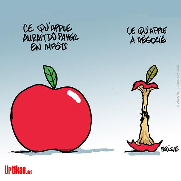 Le dessin du jour (humour en images) - Page 23 190206-impots-apple-France-deligne