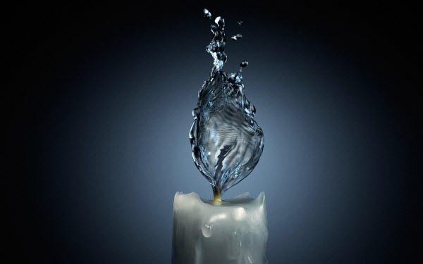 தண்ணீரை திறமையாக கையாண்டு எடுக்கப்பட்ட வியக்கத்தக்க காட்சிகள்  Candle-water