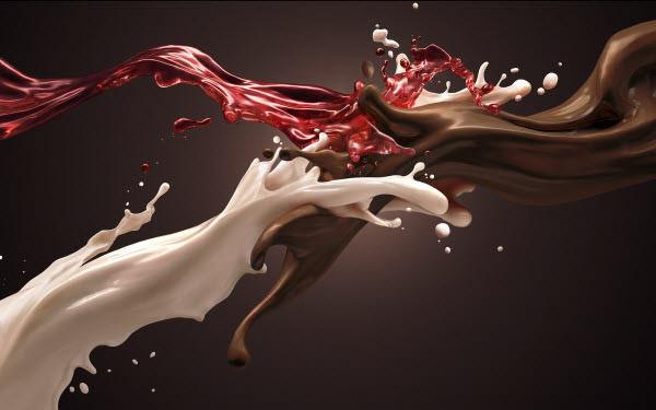 தண்ணீரை திறமையாக கையாண்டு எடுக்கப்பட்ட வியக்கத்தக்க காட்சிகள்  Chocolate-milk-strawberry