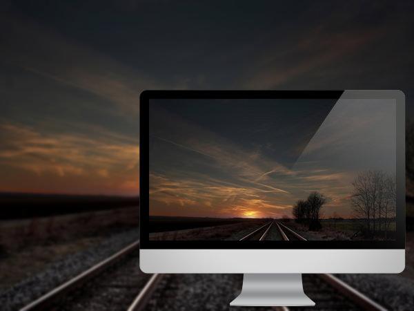 ரயில் தண்டவாளங்களின் அழகிய புகைபடங்கள்  Railroad-sunset