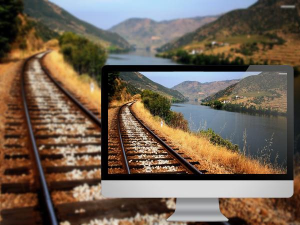ரயில் தண்டவாளங்களின் அழகிய புகைபடங்கள்  Riverside-railroad
