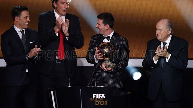 Lionel Messi, the man of the four Golden Balls 2013-01-07_GALA_BALON_ORO_21-Optimized.v1357650137