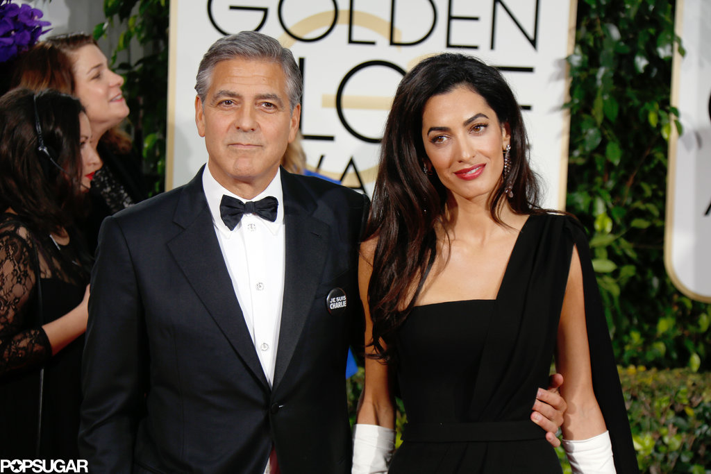 George Clooney at the Golden Globes January 2015 - Page 3 While-She-Walked-Red-Carpet
