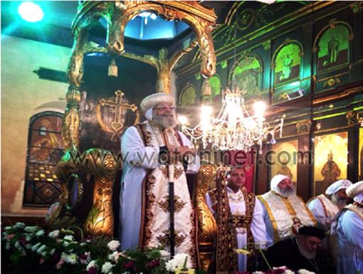 البابا تواضروس فى التذكار الرابع والأربعون لرحيل البابا كيرلس السادس 533