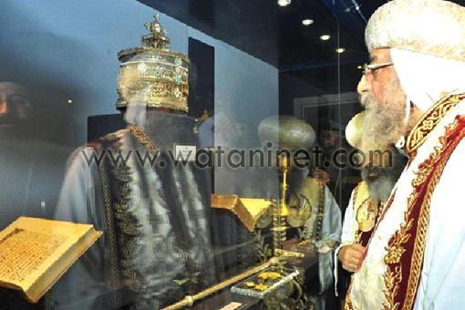 البابا تواضروس فى التذكار الرابع والأربعون لرحيل البابا كيرلس السادس 542