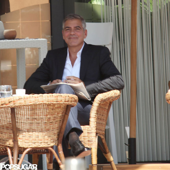 George Clooney George Clooney George Clooney! - Page 8 George-Clooney-Filming-Commercial-Milan