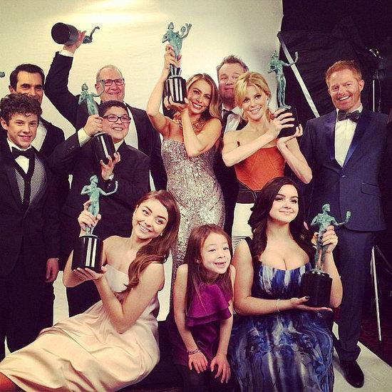 2014 SAG Awards: American Hustle Wins Top Film Prize; Breaking Bad/Modern Family Take Top TV Prizes SAG-Awards-2014-Instagram-Pictures