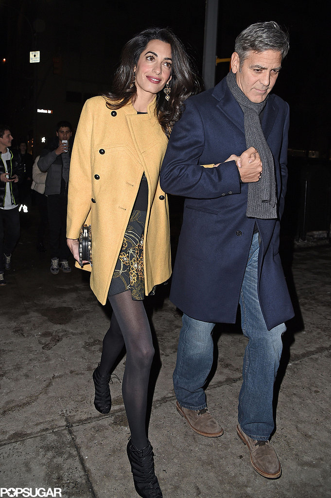 George Clooney and Amal out for dinner on the Upper East Side at Kappo Masa George-Clooney-Amal-Alamuddin-Holding-Hands-Pictures