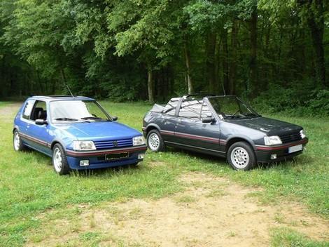 [olivpostman] 205 GTI 1.9L Bleu miami 1992 Lesdeux