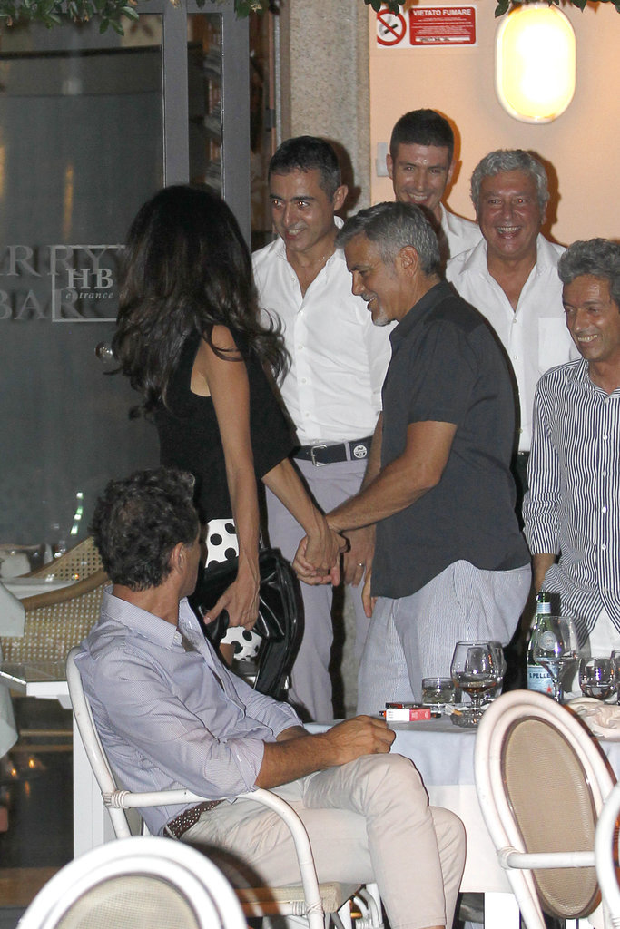 George Clooney has a laughing fit as he steps out for romantic date with his leggy wife Amal in Lake Como - 23. July 2015 George-Amal-Clooney-Hold-Hands-Italy-July-2015