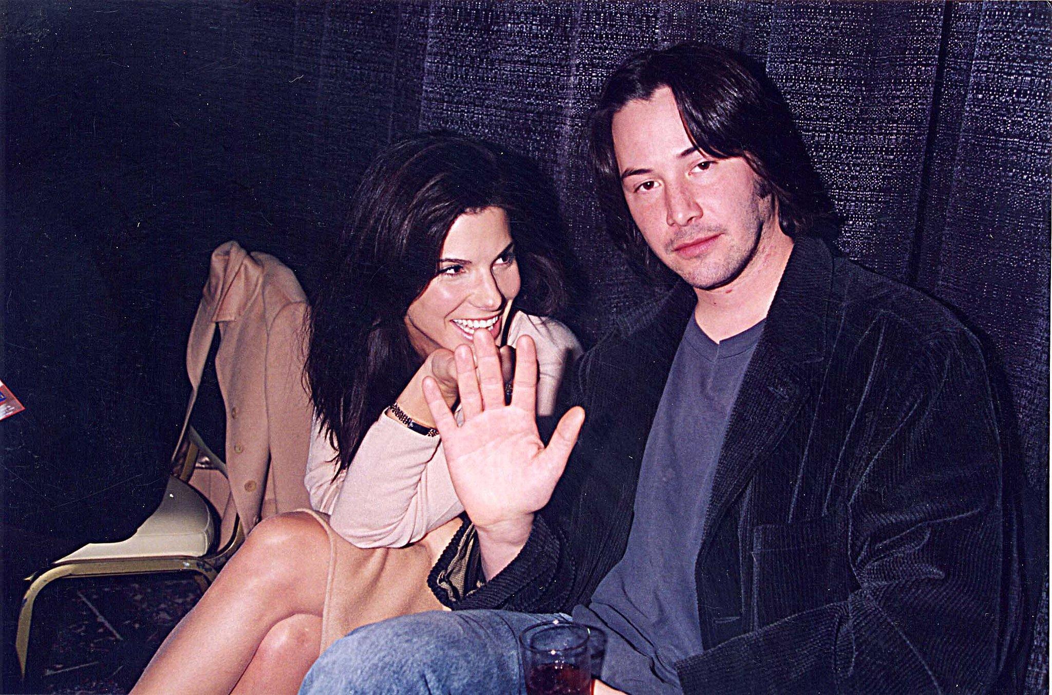 Keanu Reeves? Sandra-Bullock-Keanu-Reeves-were-all-smiles-September-1996