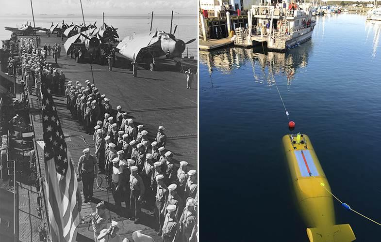 حاملة طائرات من الحرب العالمية الثانية سليمة بطائراتها تحت المحيط  Uss_independence_1b25e243cc18186a8d0946ab74708e5e.nbcnews-ux-2880-1000