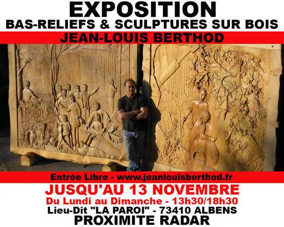 Exposition Bas-Reliefs & Sculptures sur Bois de JL BERTHOD 407027