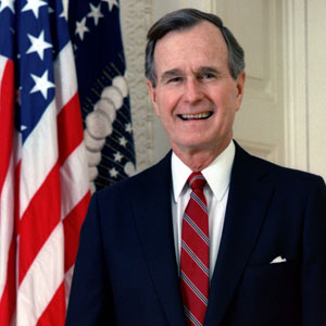 ¿Cuánto mide George H. W. Bush? - Real height 392