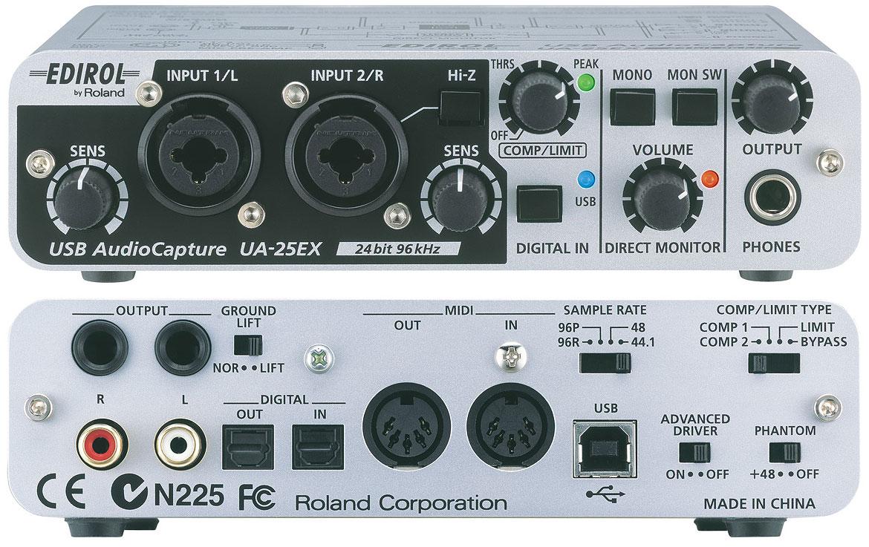 Tarjetas de Sonido para Drcop actuales Edirol-ua-25ex-594616