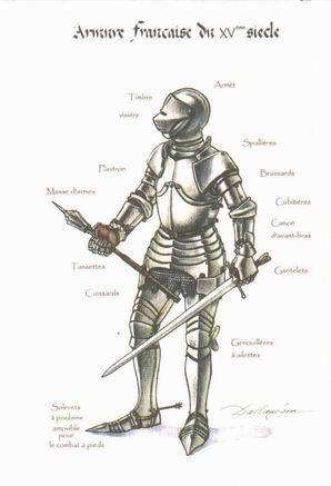 La Chevalerie Médiévale Armure%20Francaise%20-%20XVeme