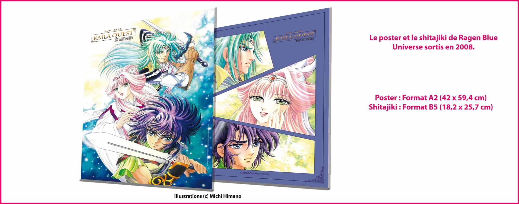 De nouvelles illustrations et goodies de Michi Himeno (Saint Seiya, Lady Oscar, Yugioh...) RAGENBLUEUNIVERSE2008_poster_et_shijiki