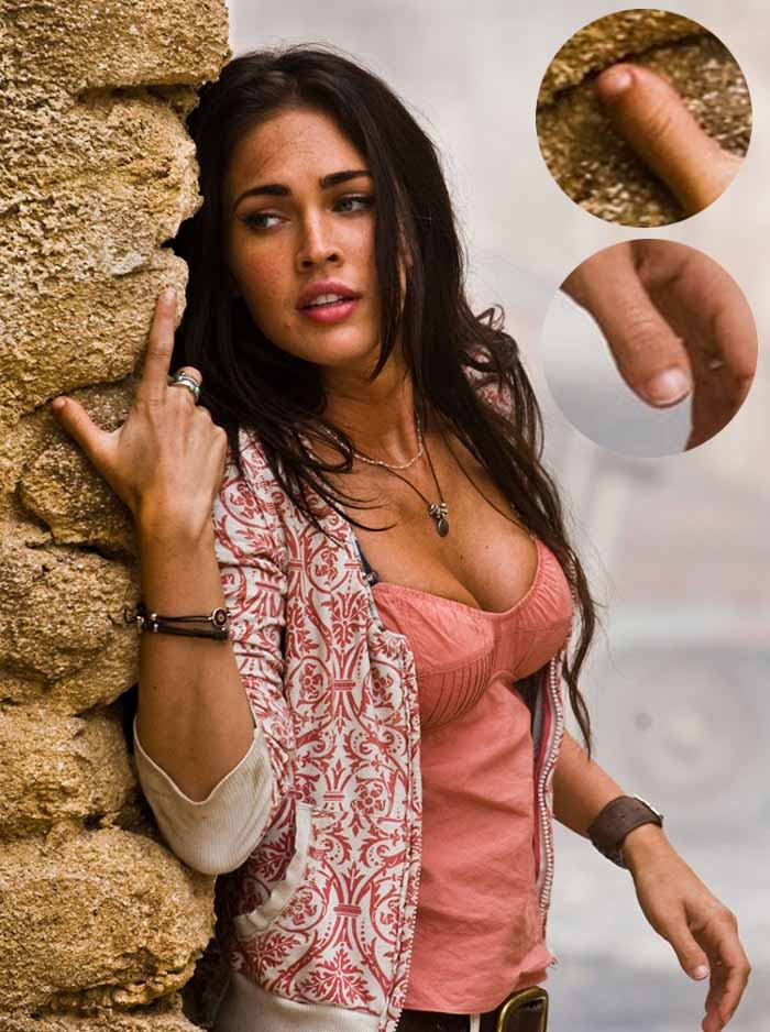 MEGAN FOX - The actress who became famous for her looks... and thumbs!  Megan-fox-thumbs-transformers