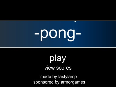 New game... Pong