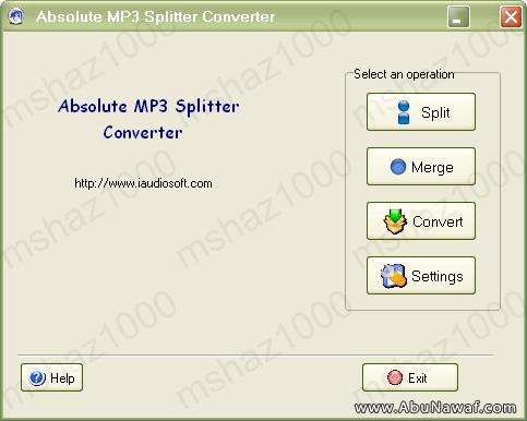 برنامج لتقطيع ودمج وتحويل الاصوات Portable Mp3 Splitter AbsoluteMP3SplitterConverter00