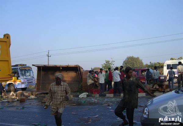 حادث سيارة عند الهنود ما صدقوا هجووووم W14
