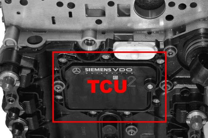 Informações técnicas - falhas e problemas mais comuns transmissão 7G Tronic - 722.9  722.9-7G-MB-TCU-LOCATION