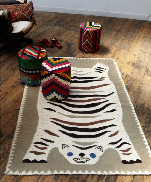 Rejtőző Medve szobája Funny-Tiger-Carpet