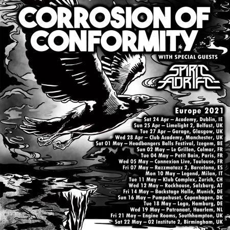 KRISTONFEST 2021 | Madrid, Sábado 8 Mayo | WITCHCRAFT + CORROSION OF CONFORMITY + BRANT BJORK & BAND + SPIRIT ADRIFT Corrosion-Of-Conformity-Tour-Europeo