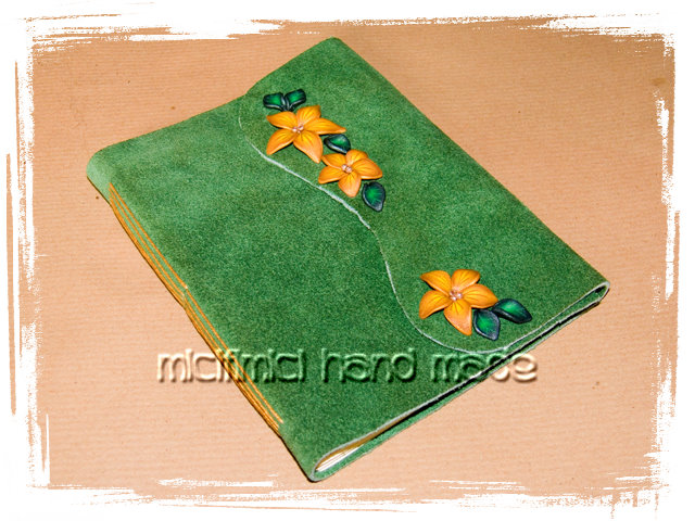 Quaderni rilegati a mano Quaderni-pelle-verdi-3