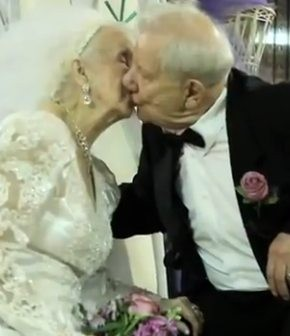 Romances en la 4ª edad. Dana-marries-bill-at-one-hundred-years-old-birthday