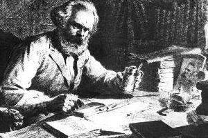 """""""Frases y citas revolucionarias"""" de Marx, Engels, Lenin, Che Guevara, Fidel Castro, Trotsky, otros autores ... Karl-marx-studying"""
