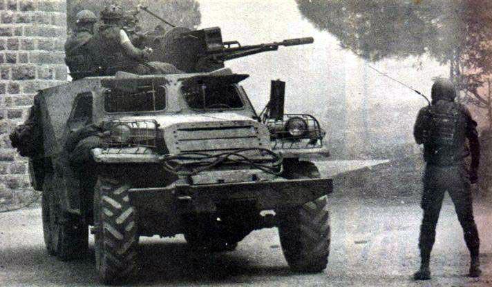 scènes de combat (armée libanaise, palestinien, chrétien...) B527158