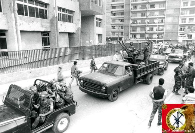 scènes de combat (armée libanaise, palestinien, chrétien...) Pspjp-102