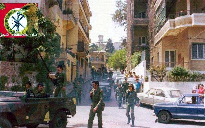 scènes de combat (armée libanaise, palestinien, chrétien...) Psplr-105