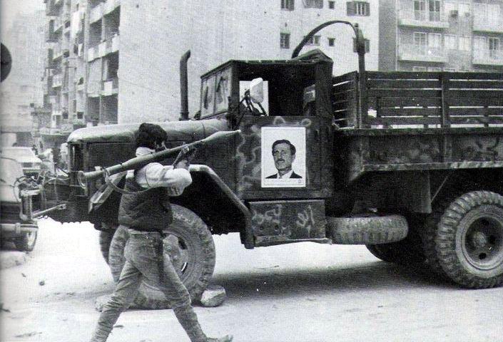 scènes de combat (armée libanaise, palestinien, chrétien...) Pspmt-101