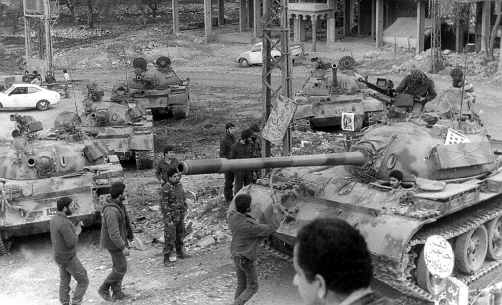 scènes de combat (armée libanaise, palestinien, chrétien...) Psptf-105