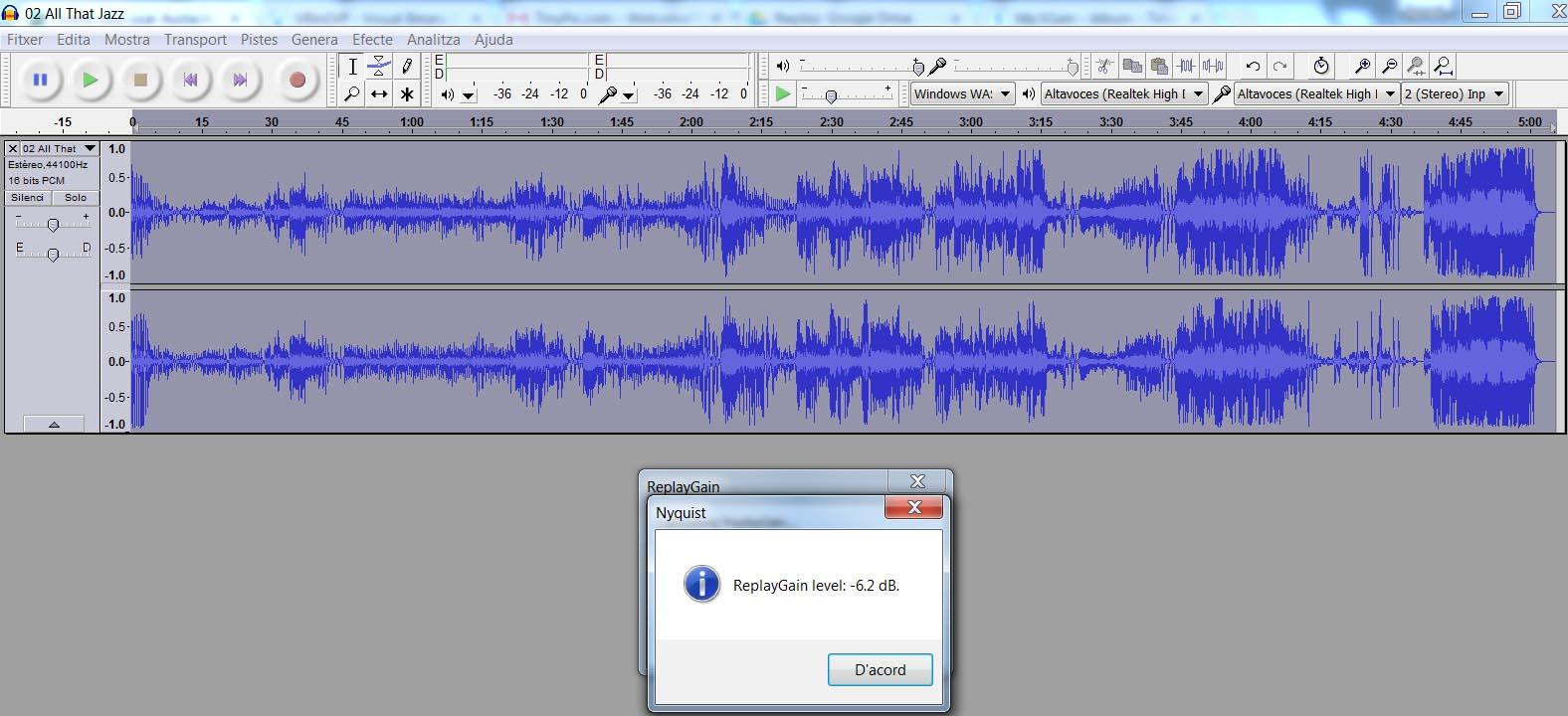 Normalización volumen de un álbum tras ripearlo Normalize