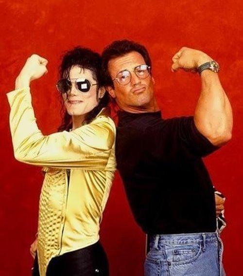 ¿Cuánto mide Michael Jackson? - Altura - Real height Stallone-Jackson-1