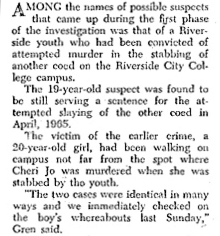 A similar crime prior to the Bates murder FromInsideDetectiveJan69