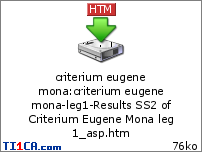 Criterium Eugene Mona 452wf5c