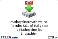 Rallye de la Matheysine (Coef 2)  779snya