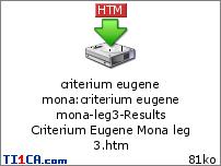 Criterium Eugene Mona 9c2uhqnd
